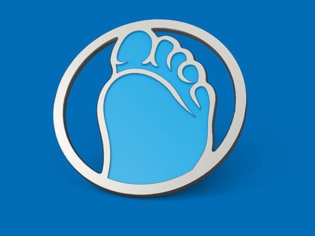 soft enamel Foot pins