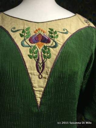 Art Nouveau Embroidery detail on Dress