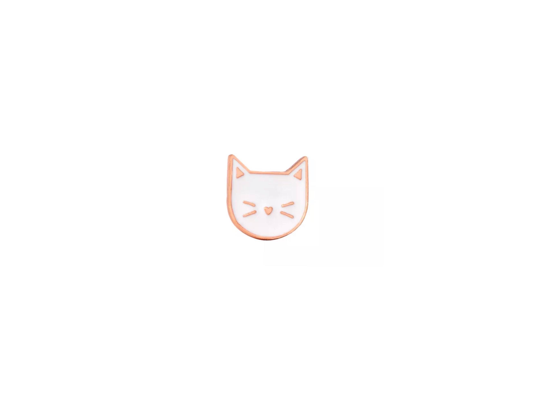 pin's mini chat blanc