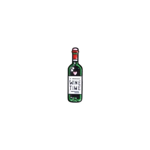 pin's bouteille de vin rouge