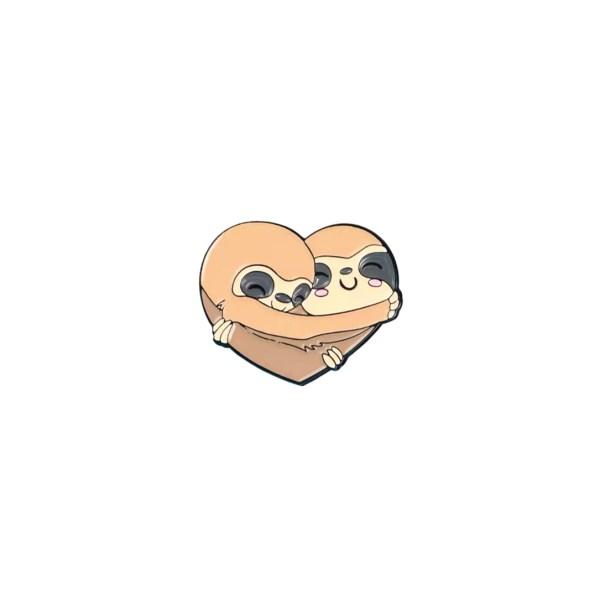 pin's paresseux amoureux