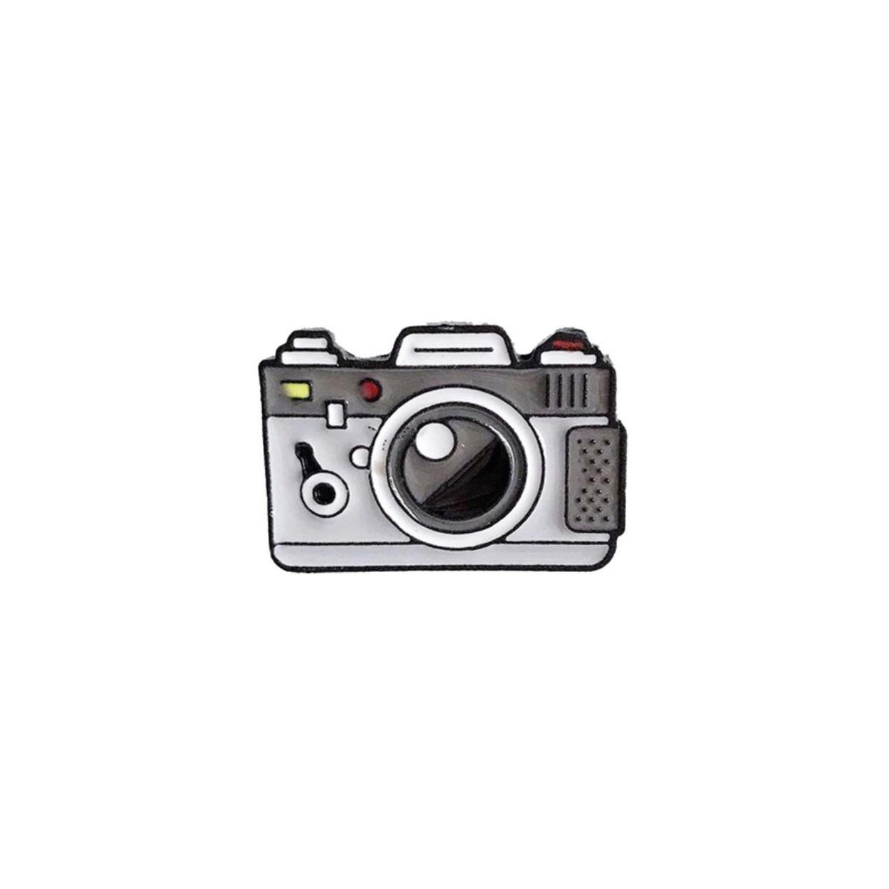pin's appareil photo gris
