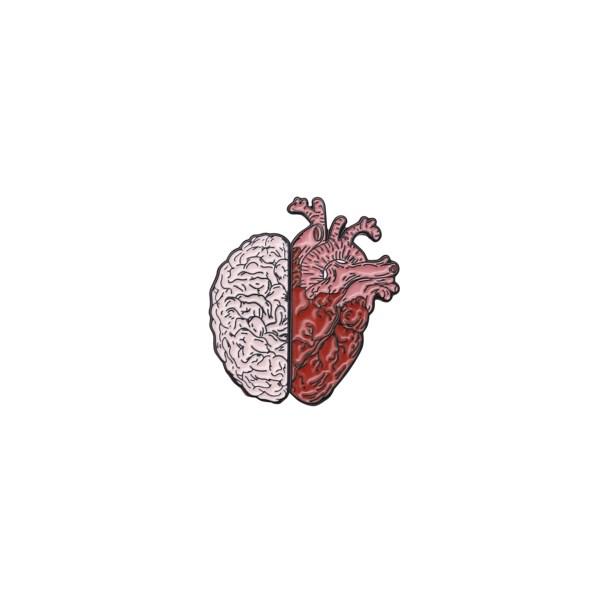 pin's duo coeur cerveau