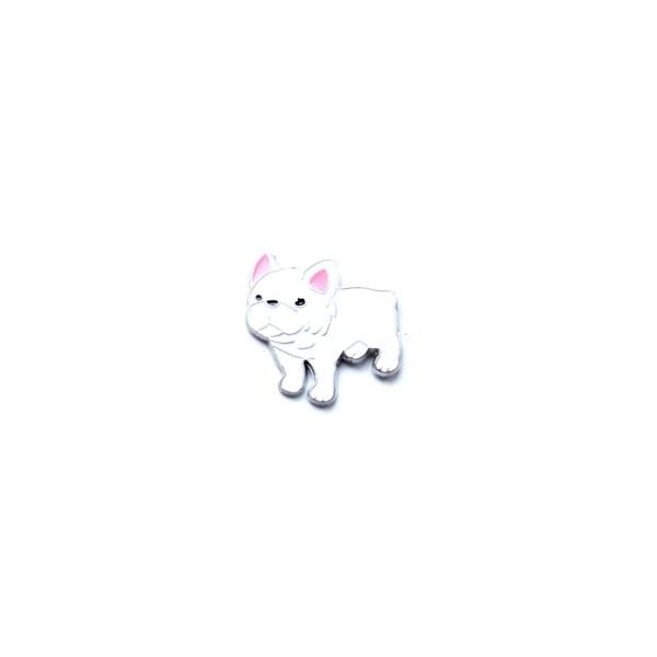 pin's bulldog français blanc