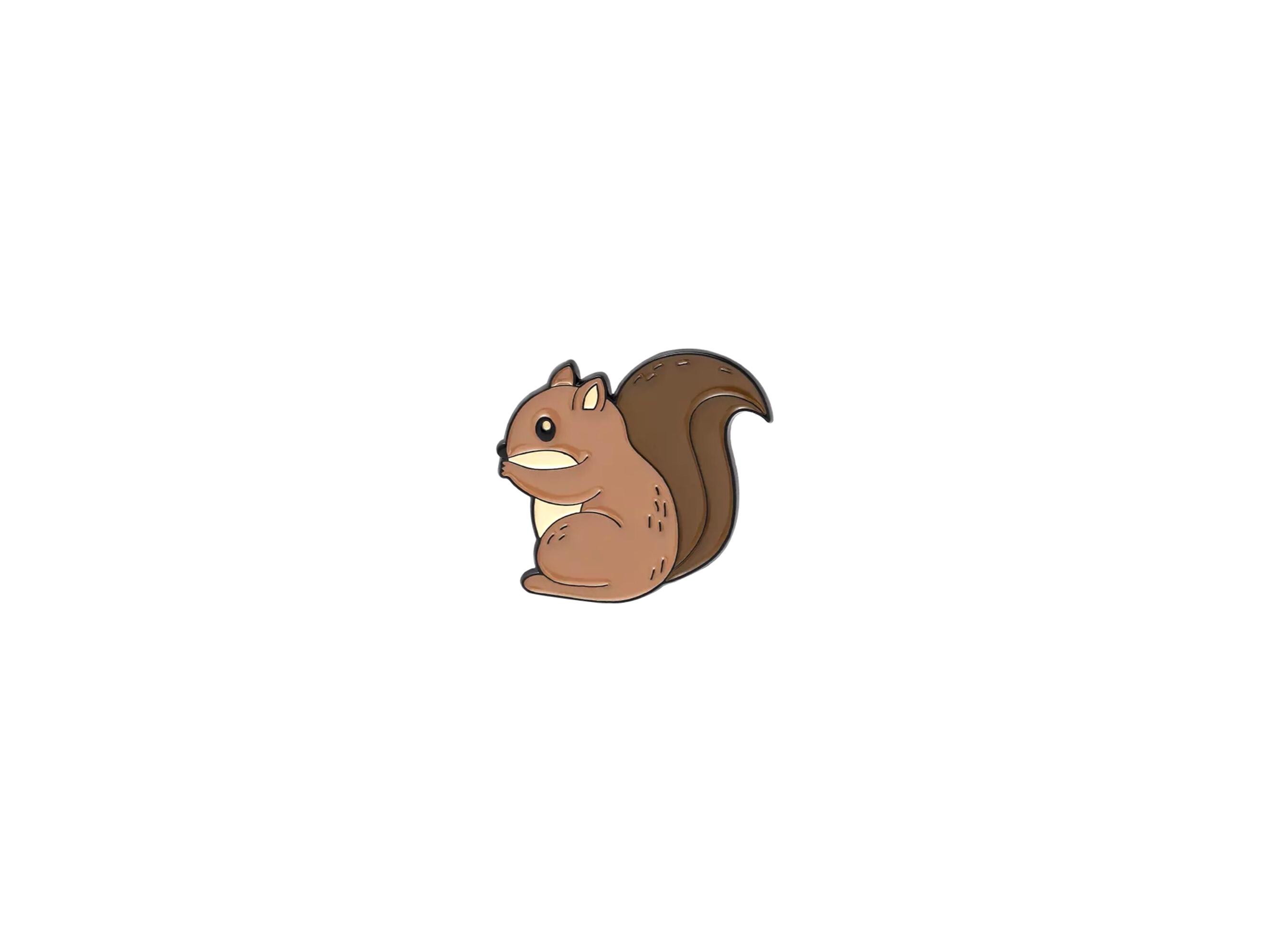 pin's écureuil marron