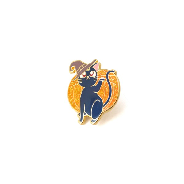 pin's chat citrouille