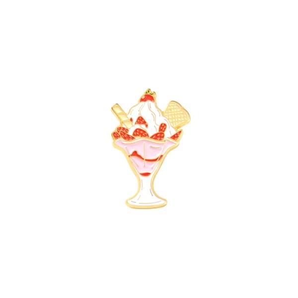 pin's glace à la fraise