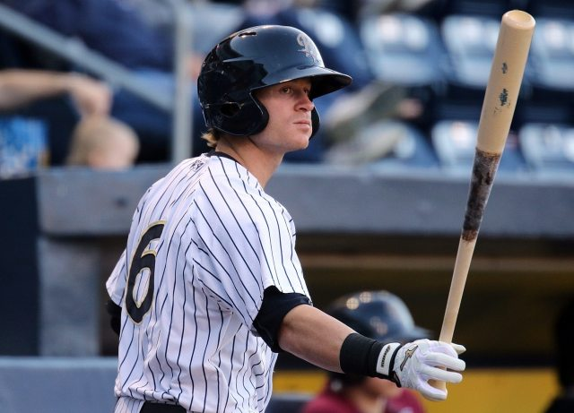 Ben Gamel with the Scranton/Wilkes-Barre RailRiders in 2016 (Photo by Martin Griff)(