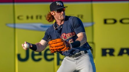 Clint Frazier with the RailRiders (Cheryl Pursell)