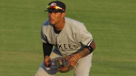 Gleyber Torres with the Tampa Yankees (Bryan Green)