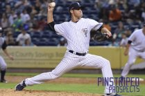 Travis Hissong pitched 2.1 innings of solid relief (Robert M. Pimpsner)