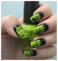 Cool Halloween Nail Art | pintabulous