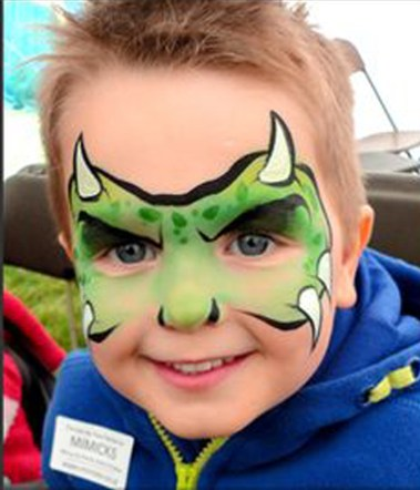 mascara monstruo niño