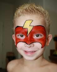 mascara roja niño