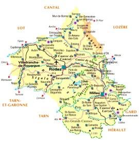 Carte Aveyron