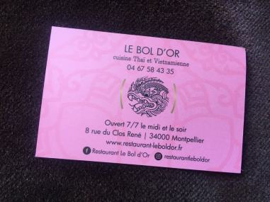 carte visite - Bol D'or Montpellier