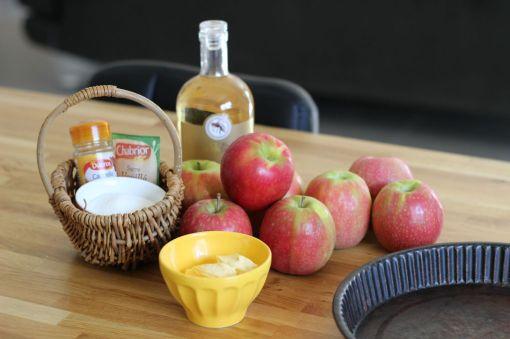 les ingedients - Tarte aux Pommes