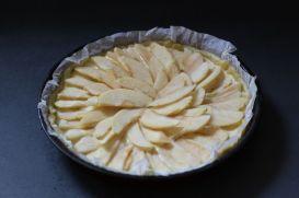 disposer les pommes - Tarte aux Pommes