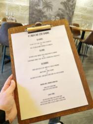 Menu - Bistro Urbain restaurant