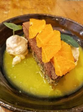 Cheesecake chocolat et mandarine - Bistro Urbain restaurant