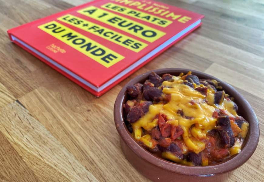 RECETTE // Chili sin carne, en 5 minutes et à moins de 1€