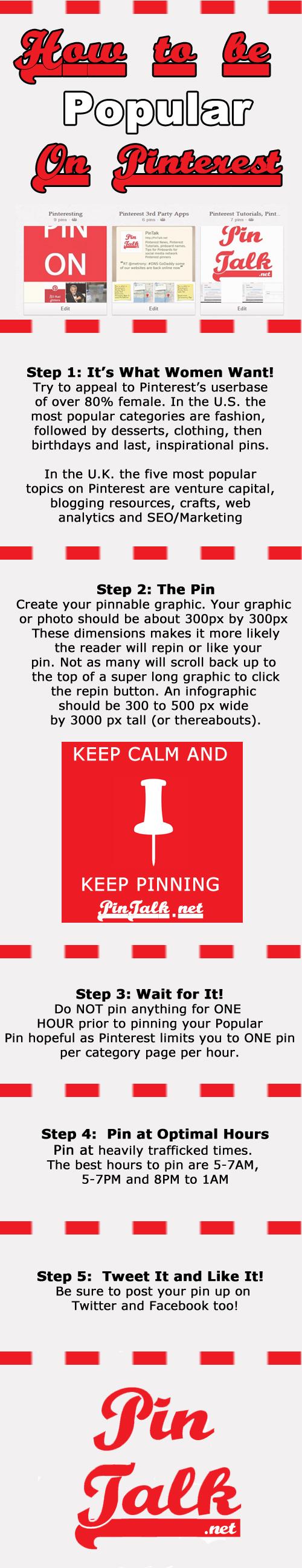 Pinterest Popular Pin Infographic