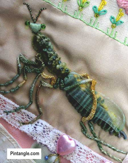 Bullion Stitch Embroidery : bullion, stitch, embroidery, Bullion, Stitch, Sample, Pintangle