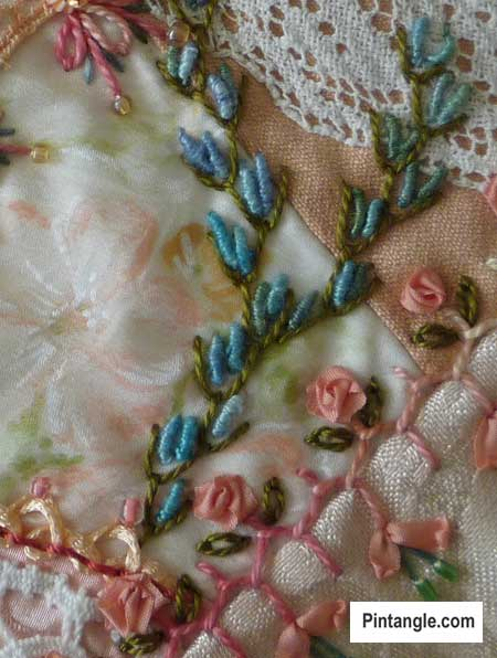 Bullion Stitch Rose : bullion, stitch, Bullion, Stitch, Pintangle, Embroidery, Stitches
