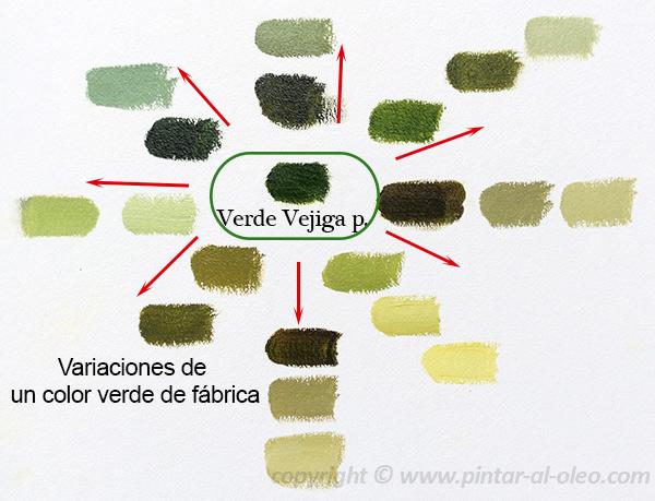 Curso de pintura la mezcla del color verde  Pintar al leo