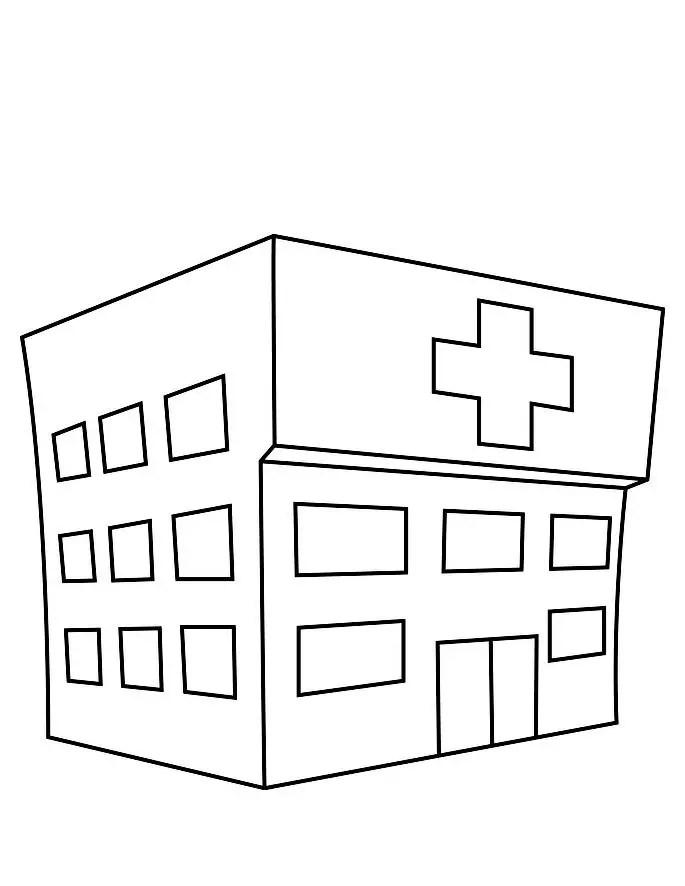 Im Genes Para Colorear Hospital Y Pintar Sketch Coloring Page