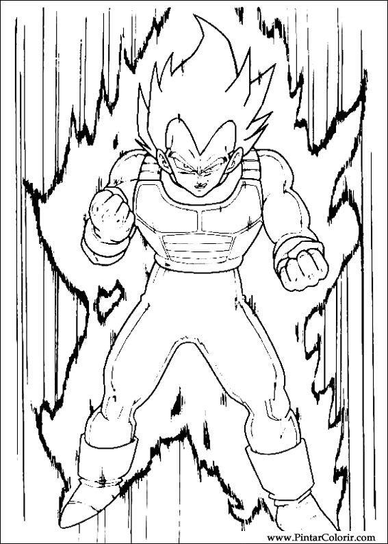 Desenho De Pintar Do Dragon Ball Z Lifeanimescom