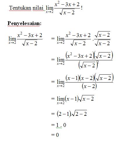 Contoh Soal Merasionalkan Penyebut : contoh, merasionalkan, penyebut, LIMIT, FUNGSI, ALJABAR, Pintar, Dengan, Matematika