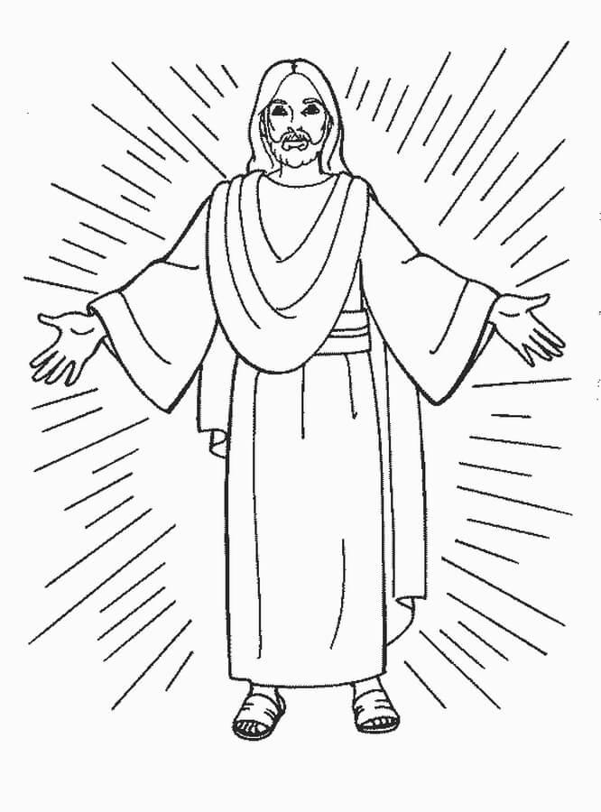 Imágenes y Dibujos de Jesús para Pintar y Colorear