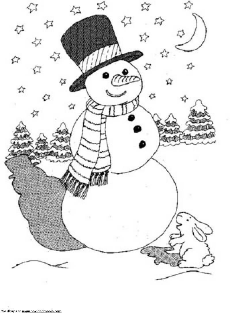 Dibujos de navidad para colorear  Imgenes para Pintar