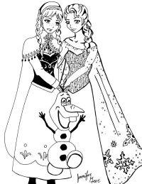 FROZEN: Lindos dibujos de la princesa Anna y Elsa ...