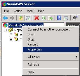 VisualSVN Properties Select