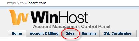 Winhost Sites Link