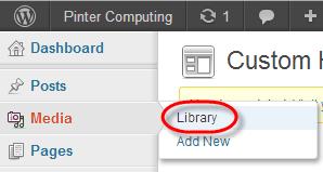 WordPress Media Library Select
