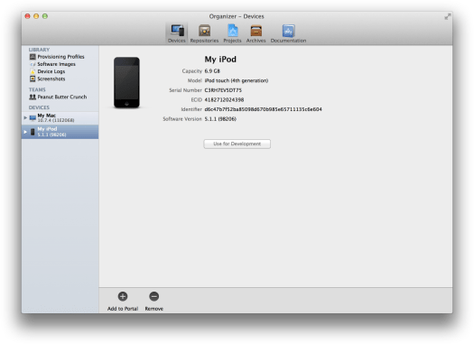 xcode registerdevice before
