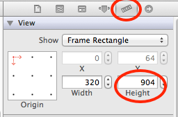 xcode set view height
