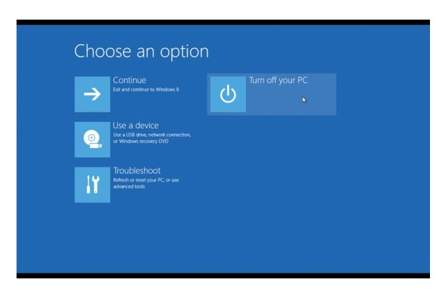 win 8 shutdown turn off pc
