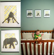 DIY Nursery Safari Decor... Adorable baby not included :)