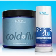 Intermediate: Cold and Flu Kit plus Respire Stix; Shield, Oregano, and Meleleuca 15 ml bottles with a Respire Stix.