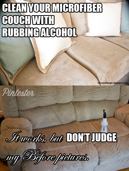 Microfiber Couch Cleaning With Rubbing Alcohol Pintester