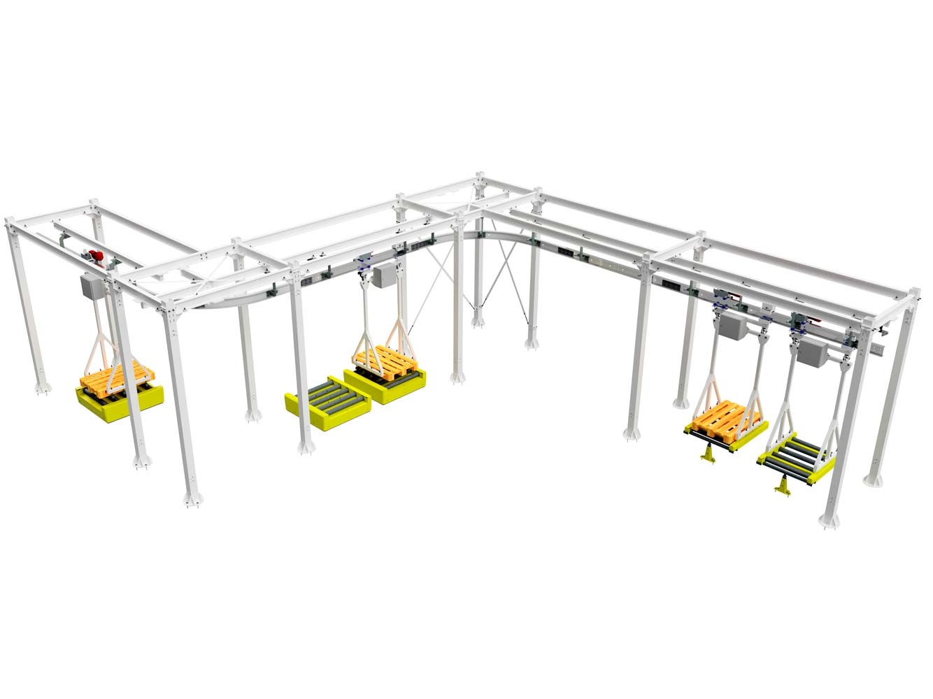 Electric Monorail System + Overhead Conveying System