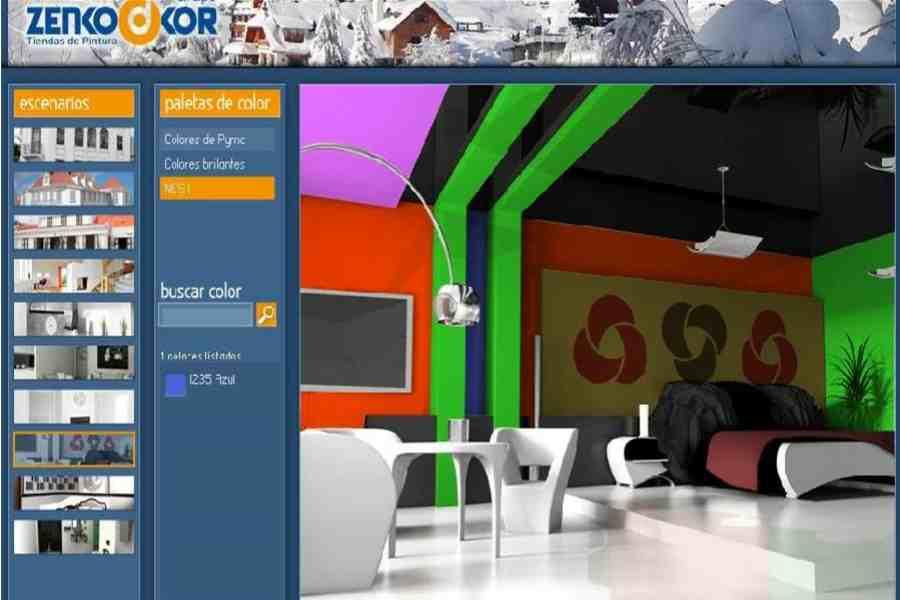 Simuladores de ambientes pinta antes de pintar - Pinturas bruguer simulador de ambientes ...