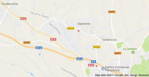 Mapa Pintores en Alpedrete