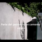 Estado del muro perimetral a pintar 3