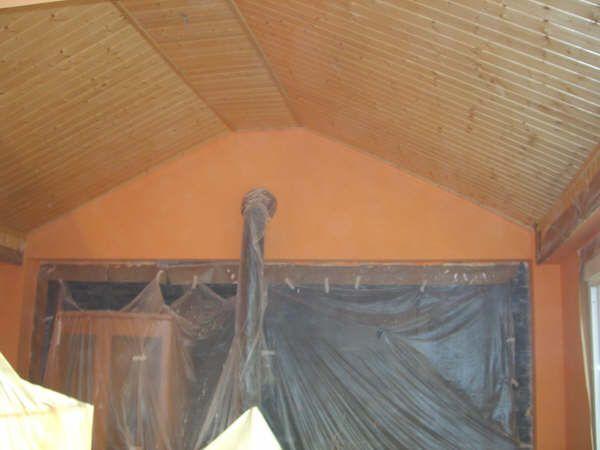 Salon pintura plastica color Naranja