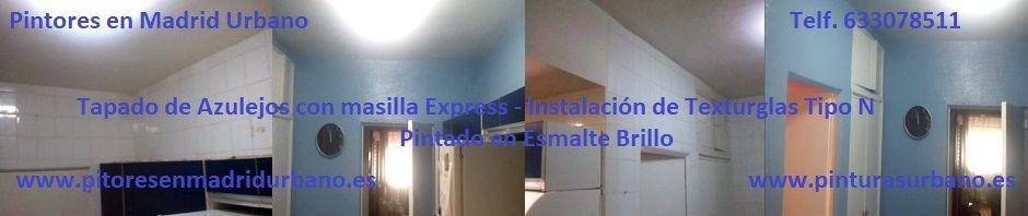 Tender Azulejos y Instalación de Texturglas Tipo N en Cocina